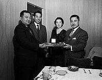[John F. Aiso honored at Hollywood Community Center, Los Angeles, California, January 1957]