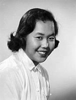 [Eiko Masuyama, graduation portrait, Los Angeles, California, February 5, 1957]