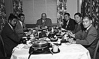 [Judo group meeting at Kawafuku restaurant, Los Angeles, California, June 24, 1950]