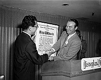 [Fifth bienniel convention of the Pacific Southwest District Council of JACL luncheon at Disneyland Hotel, Anaheim, California, May 19, 1957]