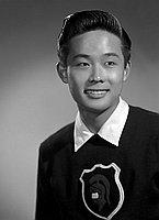 [Ken Kato, head and shoulder portrait, Los Angeles, California, May 20, 1957]