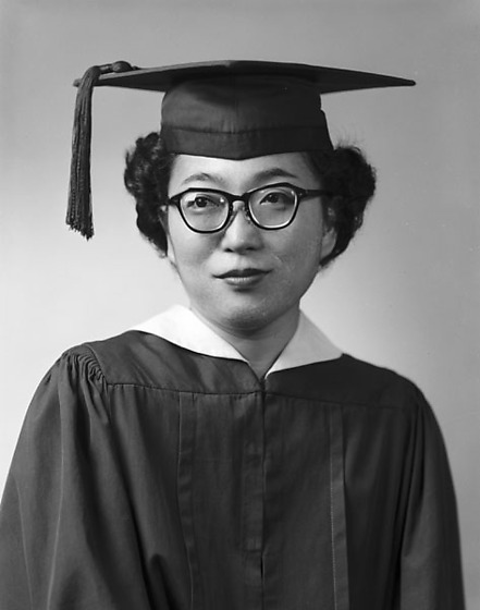 Doris Yokoyama in cap and gown, half-portrait, Los Angeles ...