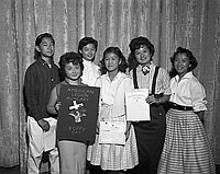 [Berendo Junior High School students receive American Legion awards, Los Angeles, California, June 14, 1957]