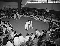 [Seinan Judo competition, Los Angeles, California, 1953?]