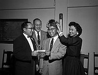 [Mr. Fujita becomes the 500th member of the Southwest JACL, Los Angeles, California, May 22, 1955]