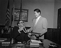 [Aloha to Mayor Poulson, California, June 14, 1955]
