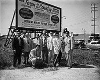 [Town & Country Shopping Center ground breaking ceremony by Home Investment Company, California, July 15, 1955]