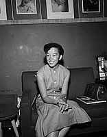 [Atsuko Nambu, Japanese track and field star, Los Angeles, California, August 19, 1955]