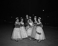 [Carole Yusa, Belmont High School Homecoming queen, Los Angeles, California, November 18, 1955]