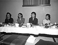 [Zandankai at Imperial Gardens restaurant, Los Angeles, California, November 25, 1955]