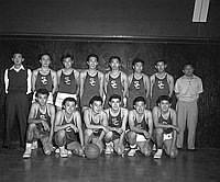 [Champions of the CINO 5th annual basketball tournament at Dorsey High School, Los Angeles, California, December 27, 1955]
