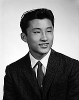 [Ray Kawaguchi, Belmont High School student body president, head and shoulder portrait, Los Angeles, California, June 7, 1958]