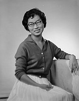 [Miss Susan Otsubo, Ephebian award recipient, three-quarter portrait, Los Angeles, California, June 13, 1958]