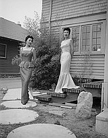 [Kow Kaneko designs for Lady's night fashion show of Nisei Veterans reunion, Pasadena, California, July 22, 1958]