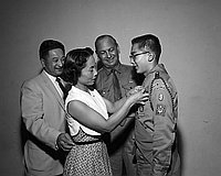 [Eagle Scout award presentation at St. Mary's Episcopal Church, Los Angeles, California, September 19, 1958]