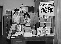 [Annual Chritmas Cheer program at JACL office, Los Angeles, California, October 3, 1958]