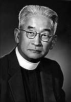 [Reverend Joseph K. Tsukamoto, General missionary of the Diocese of Los Angeles, head and shoulder portrait, Los Angeles, California, October 22, 1958]