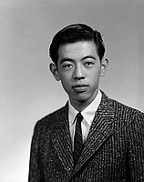 [Ken Hayami Kato, Fremont High School student body president, head and shoulder portrait, Los Angeles, California, December 18, 1958]