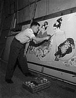 [Mr. Izuno, artist from Japan, California, 1958]