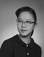 [Gloria Kanemura, John Adams Junior High School student body president, head and shoulder president, Los Angeles, California, January 20, 1959]
