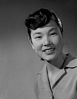 [Elaine Shizue Yoshizaki, Stevenson Junior High School student body president, head and shoulder portrait, Los Angeles, California, January 22, 1959]