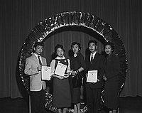 [American Legion awards at Berendo Junior High School, Los Angeles, California, January 23, 1959]