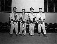 [Winners of Judo competition at Koyasan Buddhist Temple, Los Angeles, California, February 15, 1959]