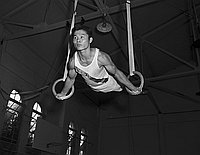 [Isamu Sakamoto, Belmont High School gymnast, Los Angeles, California, June 5, 1959]