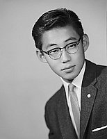 [Edward Sakata, Garfield High School student body president, head and shoulder portait, Los Angeles, California, June 2, 1959]