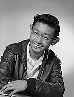 [Bob Yoshimichi Watanabe, Pacoima Junior High School student body president, head and should portrait, Los Angeles, California, June 6, 1959]