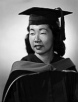 [Shirley Takaki, Phi Beta Kappa key honoree, head and shoulder graduation portrait, Los Angeles, California, June 9, 1959]