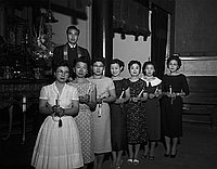 [Hollywood Buddhist Matrons installation ceremony at Nishi Hongwanji Temple, Los Angeles, California, June 13, 1959]