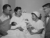 [Yamashita twins at Japanese Hospital of Los Angeles, California, August 1959]