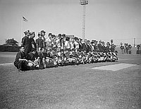 [Japan high school all-star baseball team at Wrigley Field, portrait, California, August 30, 1959]