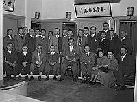 [Welcome party for Takizo Matsumoto at Kawafuku restaurant, Los Angeles, California, January 18, 1950]