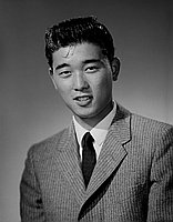 [Gary Matsuura, Dorsey High School student body president, head and shoulder portrait, Los Angeles, California, May 31, 1960]