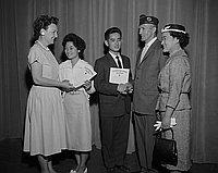 [American Legion awards at Berendo Junior High School, Los Angeles, California, June 9, 1960]