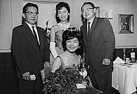 [Southwest JACL Nisei Week presentation of Carolyn Kikumura, Nisei Week queen candidate, California, June 25, 1960]