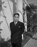 [Mr. Nishimura from Japan at Ambassador Hotel, Los Angeles, California, November 12, 1950