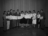 [American Legion award presentation at Griffith Junior High School, Los Angeles, California, January 21, 1961]