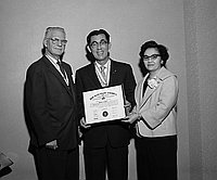 [Boy Scouts of America Silver Beaver award presentation to Mr. Ozeki at the Biltmore Bowl in the Los Angeles Biltmore, Los Angeles, California, January 31, 1961]