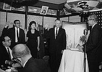 [Republican installation at Kawafuku restaurant, Los Angeles, California, March 23, 1961]