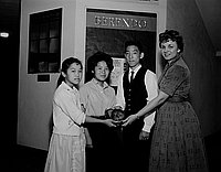 [Outstanding senior awards at Berendo Junior High School, Los Angeles, California, May 9, 1961]