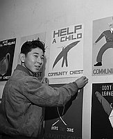 [Arthur Nakadaira, Community Chest poster contest winner, November 18, 1950]