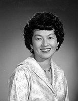 [Mrs. Robert Kodama, 42nd St. School PTA honorary life membership recipient, head and shoulder portrait, Los Angeles, California, May 10, 1961]