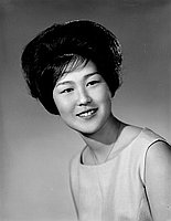 [Tsuyu Sasaki, Belmont High School student body president, head and shoulder portrait, May 27, 1961]