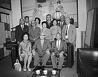 [Kichisaburo Nomura at Kawafuku restaurant, Los Angeles, California, July 2, 1961]