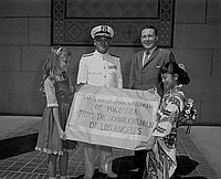[Japanese Navy Chief at Los Angeles City Hall, Los Angeles, California, 1961]