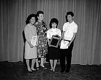 [American Legion awards at Berendo Junior High School, Los Angeles, California, January 18, 1962]