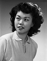 [Nancy Abe, Young Buddhists Association queen contestant, head and shoulder portrait, California, November 26, 1950]
